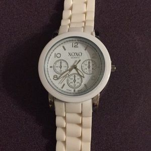 Accessories - White watch and band. Large face